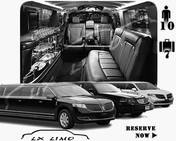 Stretch Limo airport shuttle in Seattle