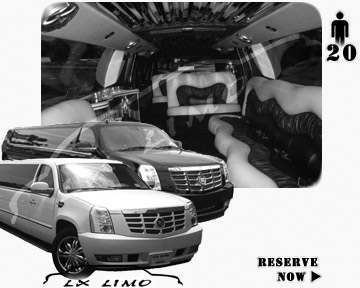 Cadillac Escalade 20 passenger SUV Limousine for rental in Seattle, WA